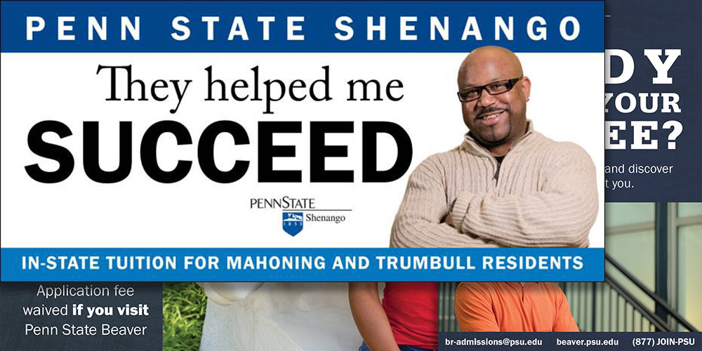 Penn State Shenango billboard: They helped me succeed