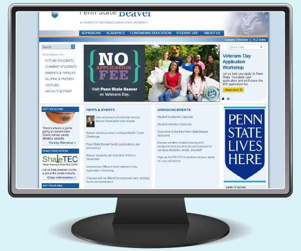 Penn State Beaver home page