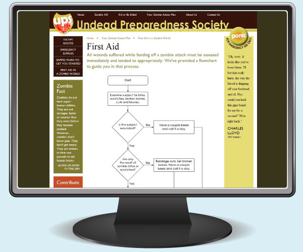 Undead Preparedness Society: First Aid page